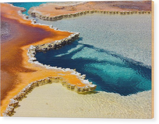 Hot Spring Perspective Wood Print