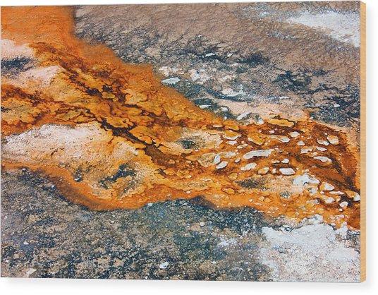 Hot Springs Mineral Flow Wood Print