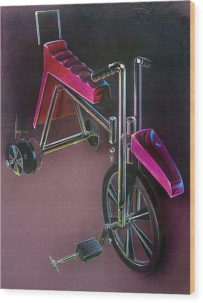 Hot Wheels Wood Print by Jack Adams