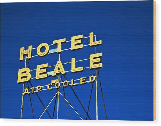 Wood Print featuring the photograph Hotel Beale by Gigi Ebert