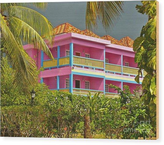 Hotel Jamaica Wood Print