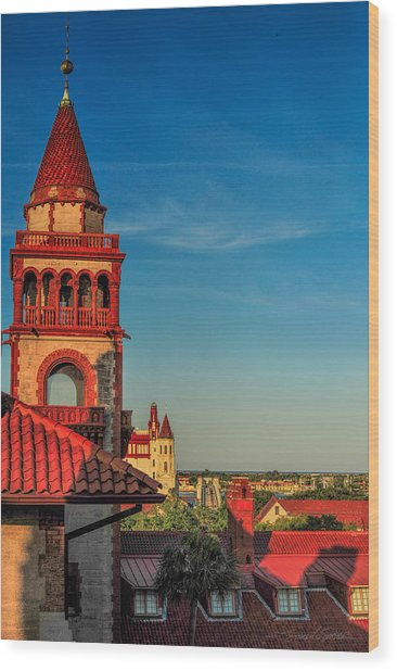 Hotel Ponce De Leon Wood Print