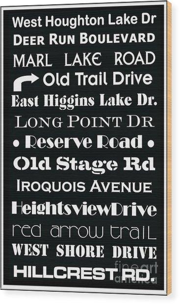 Houghton Higgins Subway Sign Wood Print
