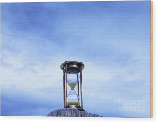 Hourglass Blue Sky Wood Print by Colin and Linda McKie