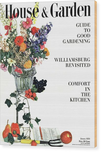 House And Garden Guide To Good Gardening Cover Wood Print
