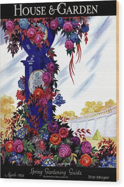 House And Garden Spring Gardening Guide Cover Wood Print