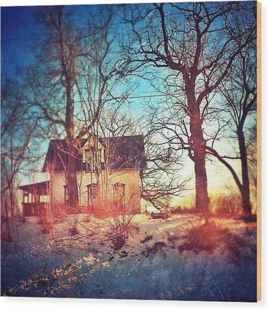 #house #home #old #farm #abandoned Wood Print