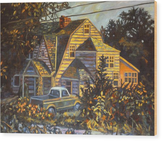 House In Christiansburg Wood Print