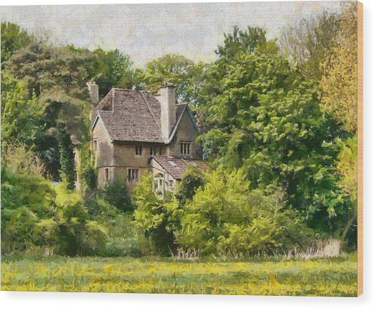 Wood Print featuring the photograph House In The Woods by Paul Gulliver