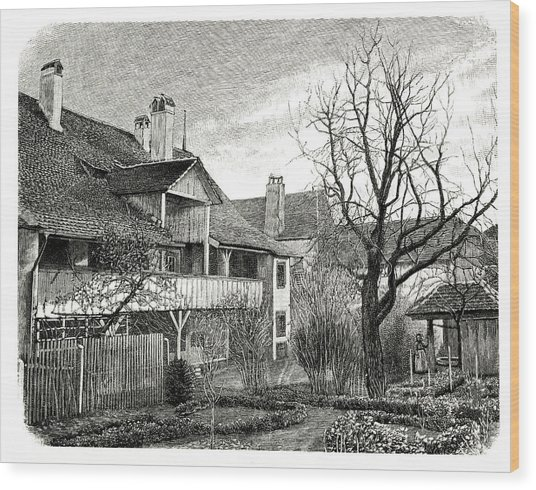 House Of Louis Agassiz Wood Print