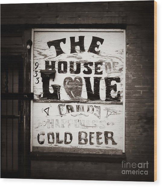 House Of Love Memphis Tennessee Wood Print