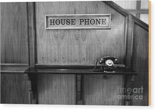 House Phone Wood Print