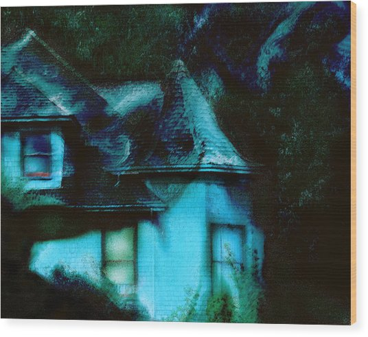 House With Soul   Wood Print