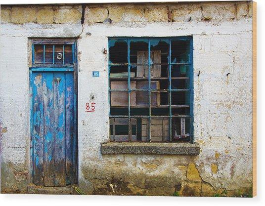 Housefront Turkey Wood Print by Tarkan Rosenberg