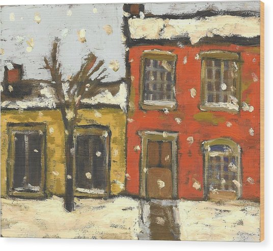 Houses In Sydenham Ward Wood Print