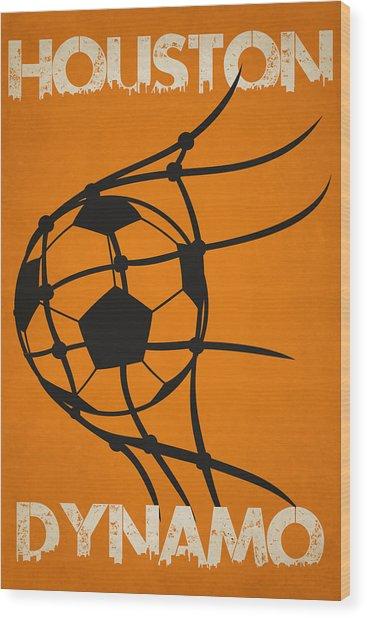 Houston Dynamo Goal Wood Print
