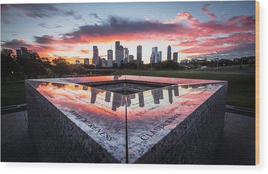 Houston Police Memorial Wood Print