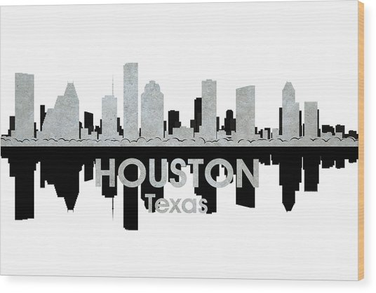 Houston Tx 4 Wood Print