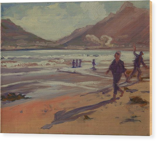 Hout Bay Beach Sunset Wood Print