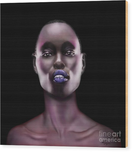 How Beautiful - The Color Purple Wood Print