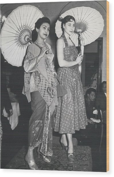How Do You Like These Batik-clothes ? Wood Print by Retro Images Archive