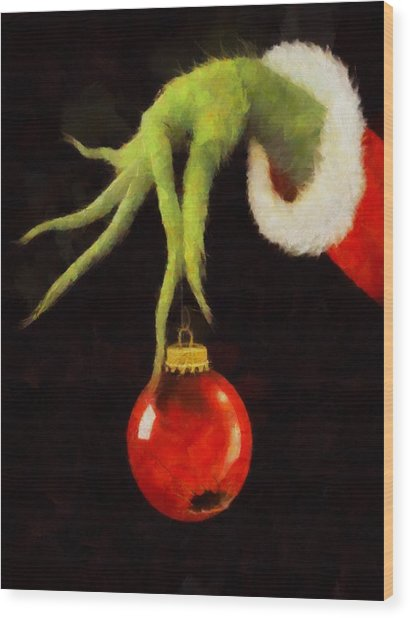 How The Grinch Stole Christmas Wood Print