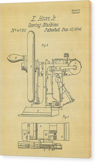 Howe Sewing Machine Patent Art 1846 Photograph By Ian Monk