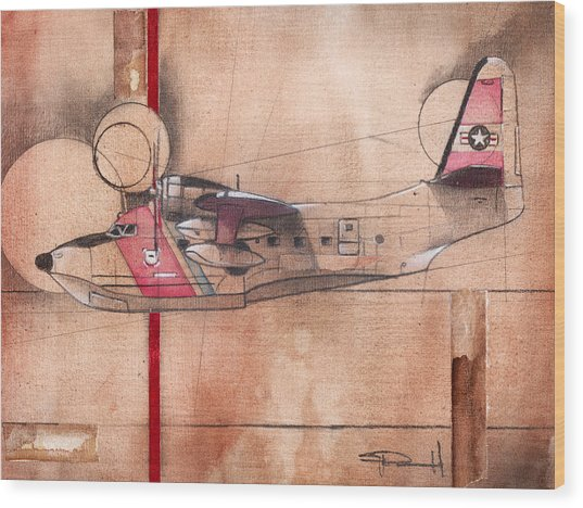Hu 16 Albatross Wood Print