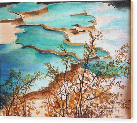 Huanglong Blue Wood Print