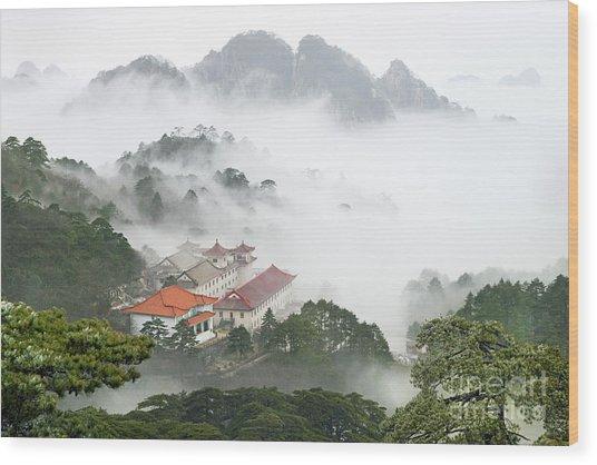 Huangshan National Park Wood Print