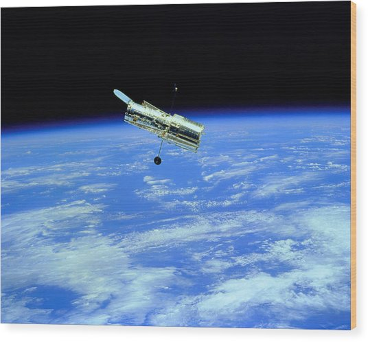 Hubble Space Telescope Wood Print