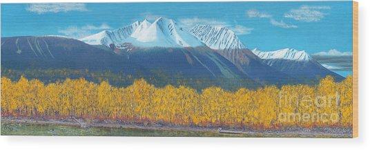 Hudson Bay Mountain Wood Print
