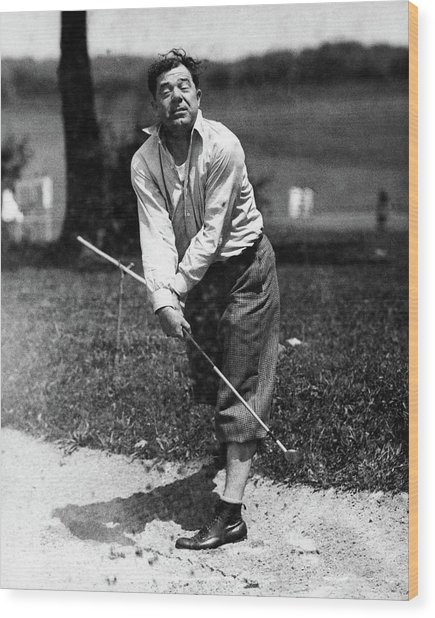Huey P. Long Play Golf Wood Print by Artist Unknown