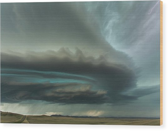 Huge Supercell Wood Print