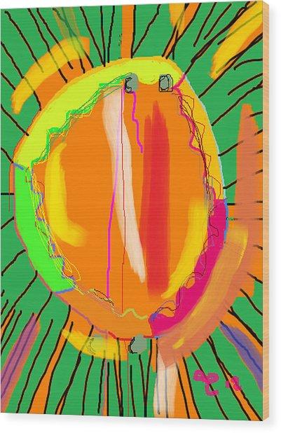 Hula Hoop Wood Print