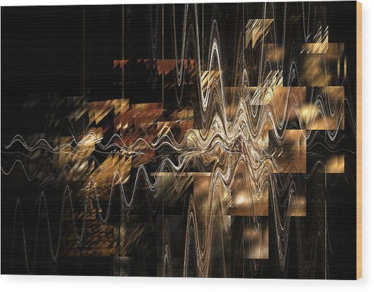 Wood Print featuring the digital art Humankind by Menega Sabidussi