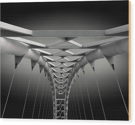 Humber Bridge Wood Print by Ivan Huang