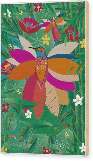 Hummingbird - Limited Edition  Of 10 Wood Print