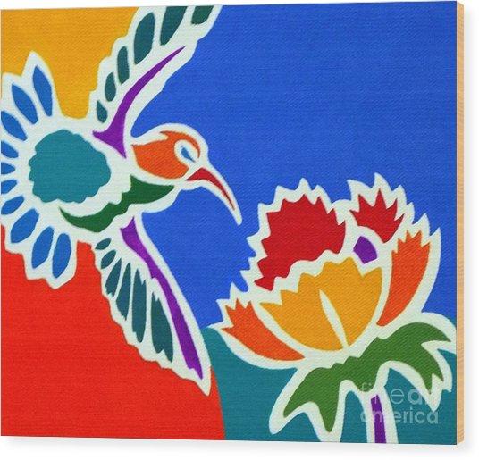 Hummingbird Number Two Wood Print by Stephen Davis