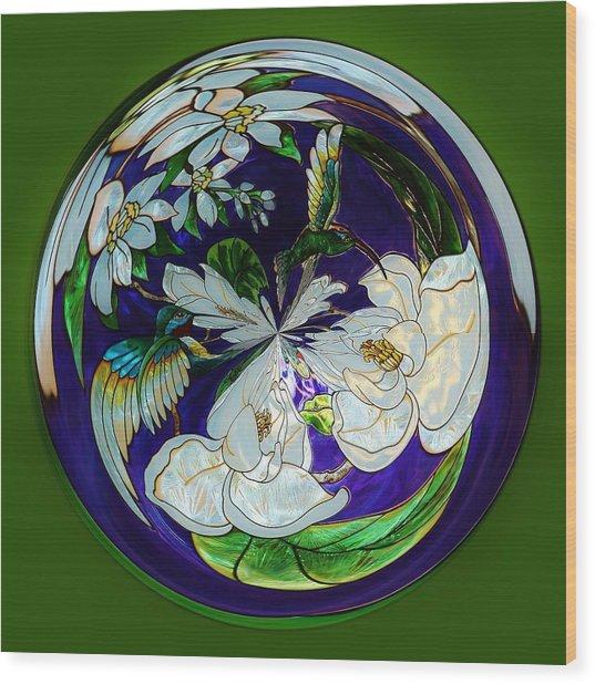 Hummingbird Orb Wood Print by Paulette Thomas