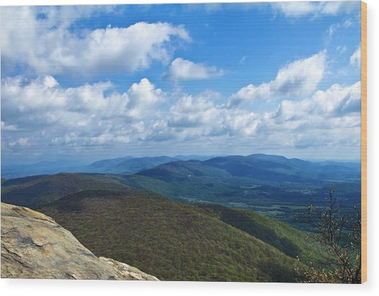Humpback Rocks View North Wood Print