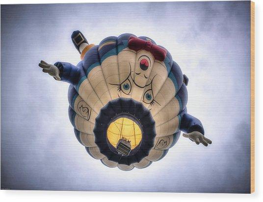 Humpty Dumpty Hot Air Balloon Wood Print