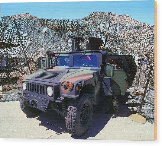 Humvee Wood Print