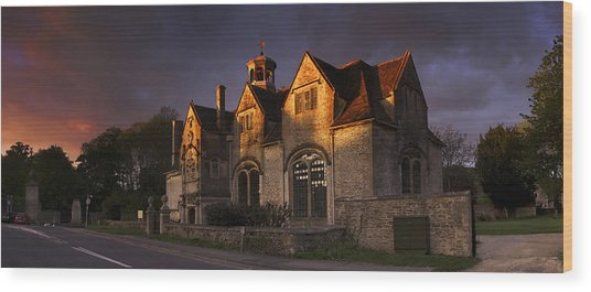 Hungerford Almshouses Wood Print