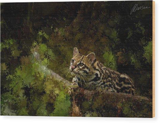Hunter Wood Print by Marina Likholat