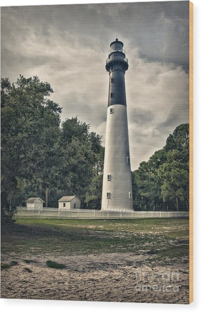 Hunting Island Lighthouse Wood Print