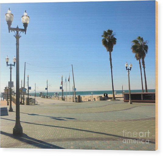 Huntington Beach Pier Wood Print