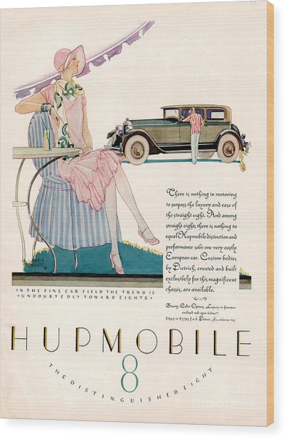 Hupmobile 1927 1920s Usa Cc Cars Wood Print by The Advertising Archives