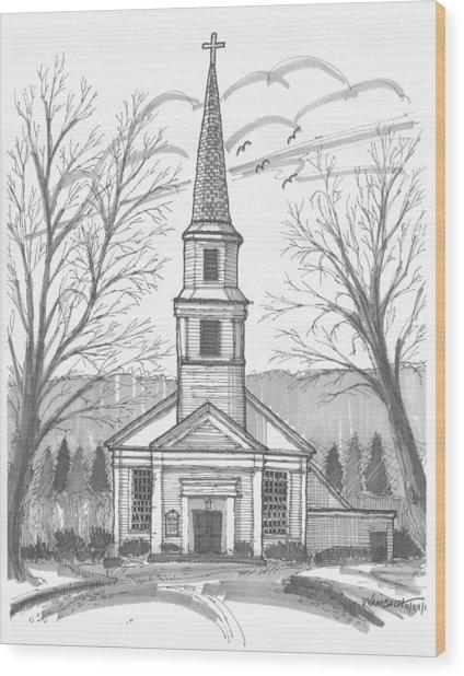 Hurley Reformed Church Wood Print