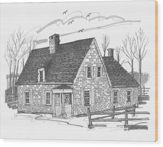 Hurley Stone House Wood Print